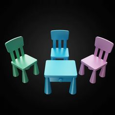 IKEA Mammut Children's Chair - 3D furniture model - Use PROMO CODE: pin3d and get 30% off - $7.00