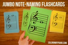 Jumbo Note-Naming Flashcards