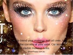#Makeup #Tip: Be careful to blend your makeup well all over, but especially at the corners of your eyes. Cameras tend to pick up visible makeup lines.