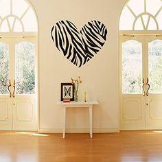 Zebra Print Stripe Heart Wall Sticker Decal Mural Art Vinyl Lettering Saying Wall Decors for Home Room, http://www.amazon.com/dp/B00EVO8LXE/ref=cm_sw_r_pi_awdm_2CmZwb1W5BXC4