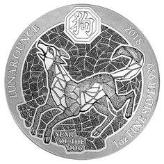 #coins 2018 Rwanda Lunar Year the Dog 1 oz Coin | In Original Mint Plastic please retweet