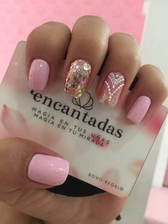 Classy Nail Designs, Short Nail Designs, Nail Designs Spring, Lace Nails, Pink Nails, Nails Only, Classy Nails, Cute Acrylic Nails, Nail Spa
