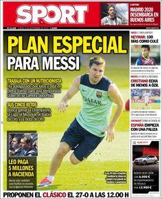 Los Titulares y Portadas de Noticias Destacadas Españolas del 5 de Septiembre de 2013 del Diario Sport ¿Que le pareció esta Portada de este Diario Español?