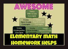 Awesome Math Resources for elementary students.  A must have!
