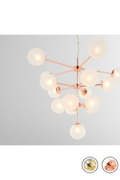 MADE Statement Pendant Chandelier Extra Large, Copper & Frosted Glass. Express delivery. NEW Globe Pendants Collection from MADE.COM...