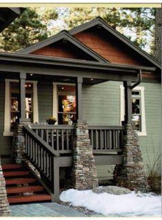 Super Exterior Paint Colora For House Gray Front Porches Craftsman Style 43 Ideas Exterior Paint Colors For House, Paint Colors For Home, Exterior Colors, Exterior Design, House Paint Color Combination, D House, House Siding, Exterior Makeover, Craftsman Bungalows