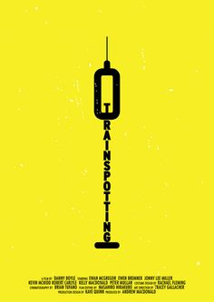 Trainspotting in Creative Neon, Pictogram Movie Posters