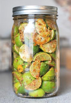 Okay - this sounds really good! Key Lime Pickle