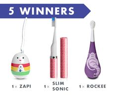 Win a Slim Sonic Toothbrush, a Zapi Luxe UV Sanitizer, and a Rockee Toothbrush!