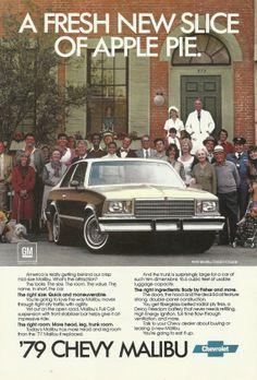1979 Chevy Malibu Automobile Original 1978 by VintageAdOrama, $9.99