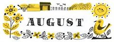 Hello August - my baby Hello August Images, Printable Calendar Template, Kids Calendar, You Draw, Photo Wallpaper, Book Art, Illustration Art, Fb Covers, Charity Shop