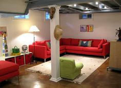 unfinished painted basement ceilings - Google Search