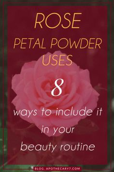 Rose petal powder soothes, cleanses, tones, moisturises and cools the skin down. A summer essential. Uses Of Rose, Rose Petal Uses, Diy Mask, Diy Face Mask, Diy Body Butter, Diy Beauty Secrets, Avocado Face Mask, Aloe Vera Face Mask, Dried Rose Petals