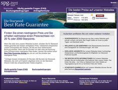 Starwood Preferred Guest - Best Rate Guarantee - jetzt 20% Rabatt oder 2.000 Starpoints Gutschrift - Tipps & Tricks für Reisende