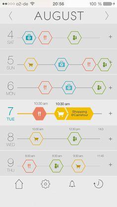 UI/UX Design for iOS7 Calendar