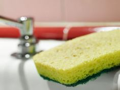 To sanitise a kitchen sponge, put it (very wet), in the microwave for 2 minutes on high, it will get rid of 99% of the germs.......