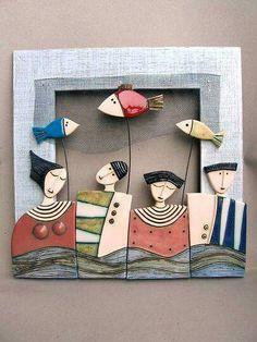 Me biblia anti psatia kai 3 prosopa teacher mathites Clay Projects, Clay Crafts, Diy And Crafts, Arts And Crafts, Sculptures Céramiques, Sculpture Clay, Ceramic Sculptures, Slab Pottery, Ceramic Pottery