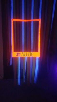 Glow party. Glow in the dark birthday.  Blacklight photo booth. Blacklight birthday party. Party decor