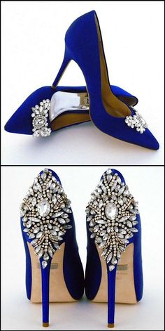 How do you blue? Sex and the city blue shoes.  Badgley Mischka and Perfect Details has you covered, whether your preference is to light up the room when you enter or leave some sparkle behind as you leave.  Badgely Mischka blue  wedding shoes ~ an unforgettable perfect detail.  Find them at Perfect Details. #bridal #wedding #shoes