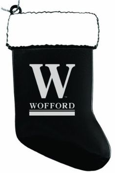 Wofford College - Chirstmas Holiday Stocking Ornament - Black
