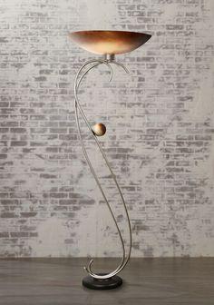 Van Teal Ambrosia Modern Wheat Ginger Torchiere Floor Lamp - #EU6G149 - Euro Style Lighting