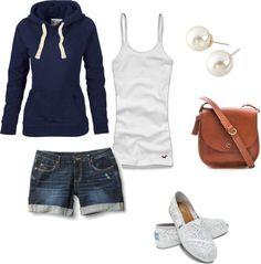 Simple, but cute outfit fashion moda, cute fashion, fashion outfits, womens Fashion Mode, Look Fashion, Womens Fashion, Ladies Fashion, Runway Fashion, Fashion Trends, Mode Style, Style Me, Shoes Style
