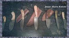 Group shot of a few knives