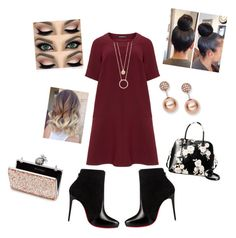 """""""Valentine's Date Pt 1💘"""" by angeliqueamor on Polyvore featuring Manon Baptiste, Christian Louboutin, Kate Spade, FOSSIL and Miss Selfridge"""
