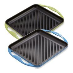 Le Creuset® 9.5-Inch Skinny Grill - BedBathandBeyond.com - Cassis