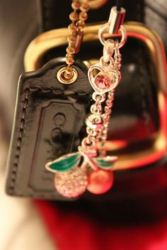 I didn't know Coach made a cherries key chain/hang tag?  Love it!