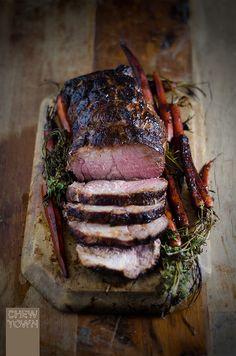 Blackened Maple and Blood Orange Roast Pork Recipe | Chew Town Food Blog