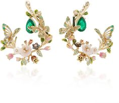 Anabela Chan M'O Exclusive: Butterfly Garland Earrings Merging the value of design with impeccable craftsmanship this enchanting piece by **Anabela Chan** features a whimsical construction with unique stones. (Ad)