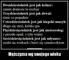 BezCenzury - Demotywatory Polish Language, Weekend Humor, Text Memes, Sweet Words, Man Humor, Good Mood, Texts, Funny Quotes, Life