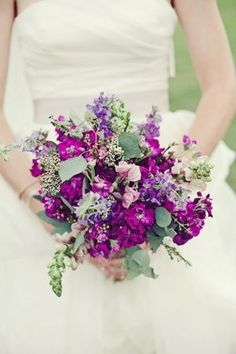 Vintage #purple #bouquet ... #purple #wedding … Wedding #ideas for brides, grooms, parents & planners https://itunes.apple.com/us/app/the-gold-wedding-planner/id498112599?ls=1=8 … plus how to organise an entire wedding, within ANY budget ♥ The Gold Wedding Planner iPhone #App ♥ For more inspiration http://pinterest.com/groomsandbrides/boards/ #fuchsia #plum #indigo bridal bouquets, wedding bouquets, weddings, purple flowers, bride bouquets, purple wedding, purple bouquets, purpl wildflow, modern bride