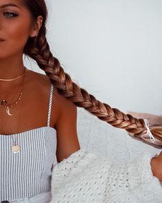 weet Braids for Long Hair Fabulous Prom Hair Styling Ideas Great Hairstyles, Messy Hairstyles, Cut Her Hair, Pinterest Hair, Grunge Hair, Mermaid Hair, Dream Hair, Hair Day, Hair Looks
