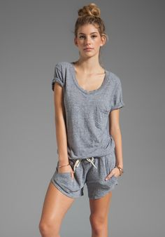 MONROW Romper in Granite...First romper Ive seen that I like and looks comfy.