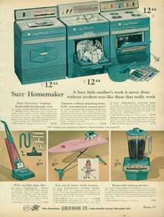 Suzy homemaker...MY MOM BOUGHT ME THE STOVE AND WASHER...AND I STILL HAVE THEM IN THE BASEMENT!!!
