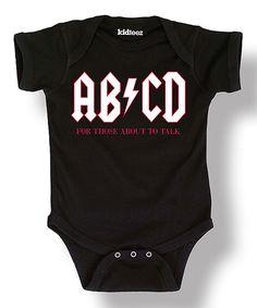 Look at this #zulilyfind! Black 'AB/CD' Bodysuit - Infant by LC Trendz #zulilyfinds