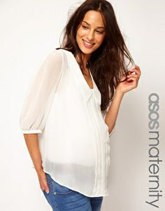 Enlarge ASOS Maternity Shirt With Dropped Collar