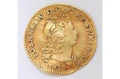 Antique Gold coin rare Portuguese Reis 1.7 grams 1747