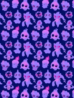 'Ghost Pokemon Pattern' iPhone Case by knightofbunnies - Ghost Type - Cute Pokemon Wallpaper, Cute Wallpaper Backgrounds, Cute Wallpapers, Pokemon Halloween, Wallpapper Iphone, Ghost Type Pokemon, Pokemon Stuff, Pokemon Backgrounds, Pokemon Comics