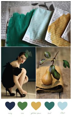 green, mint, mustard - love this color palatte