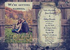 Rustic Wedding Invitation, printable, you print, digital, mason jar, lace on Etsy, $15.00