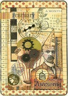 mixed media steampunk art