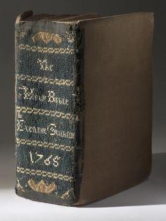 Book with Needlework, c. 1765