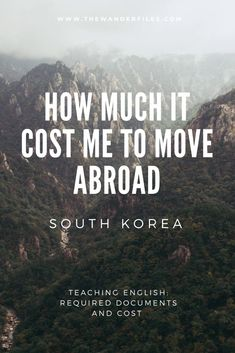 This is exactly how much I spent when I moved to South Korea to teach English with EPIK. Here's how much it costs to move abroad! South Korea Travel, Asia Travel, Teaching Overseas, Teaching English, Teach English Abroad, Seoul Korea, Cool Countries, Study Abroad, Ulzzang Korea