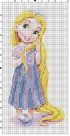Mini Rapunzel Kreuzstich