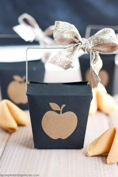 DIY Fortune Cookie Favor Boxes from MichaelsMakers A Pumpkin And A Princess