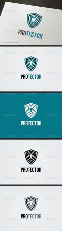 Protector Logo by cooledition Solid and professional logo. Easy and Fully editable:Text 100 editable, you can increase the size of the logo without losing Design Templates, Logo Templates, Logos, Logo Branding, Lock Logo, Security Logo, Vector Logo Design, Shield Logo, Professional Logo