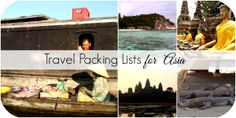 Travel Packing Lists for Asia including Japan, Thailand, Singapore, Indonesia, and more! Plus a guide on how to pack for backpacking Southeast Asia.